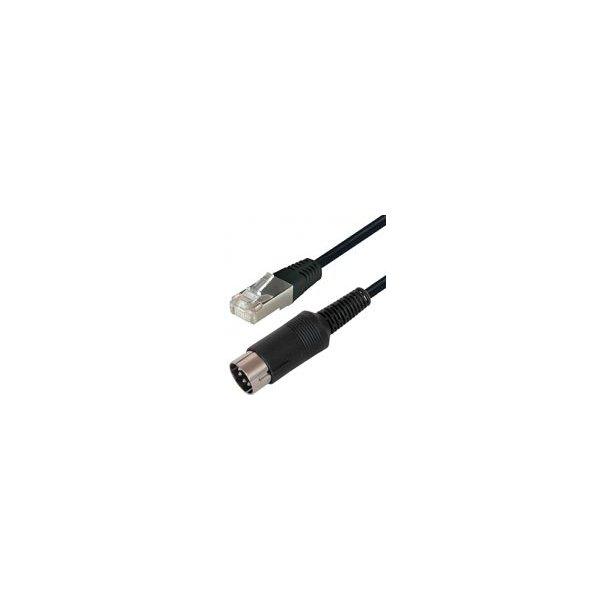 8 Pin Din M - Rj45 10m Black
