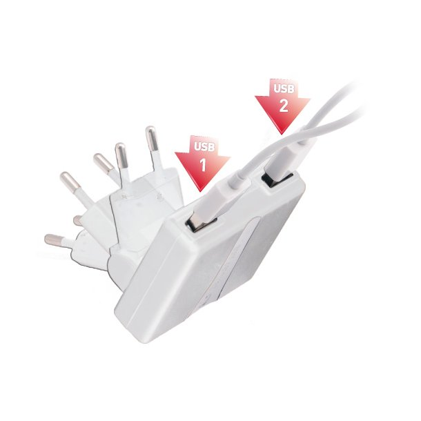 Dual USB Charger for iPad