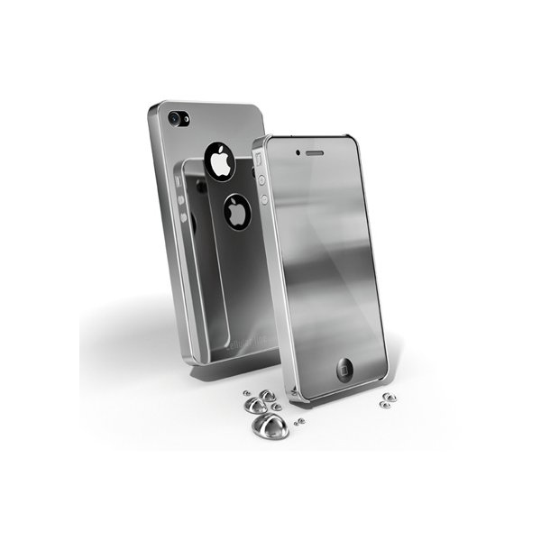 CHROME IPHONE4/4s - GREY. ALLE IPHONE4/4S COVERS 25,- FØR OP TIL 299,-