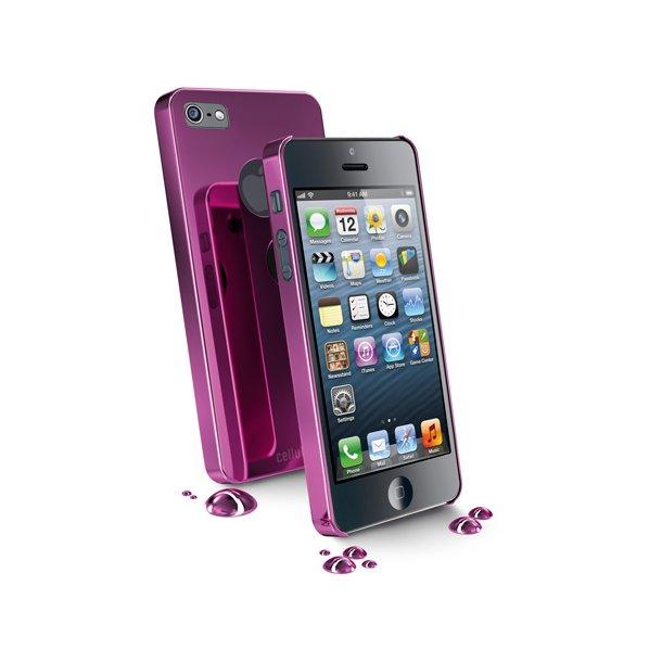 Hard Case iPhone5 Chrome i pink