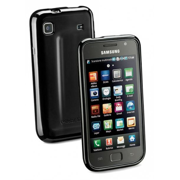 Shiny Rubber Case, i sortSamsung G/GS