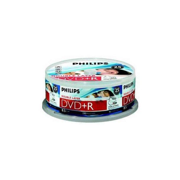 Philips DVD+R,25 Cake DuallayInjekt Printable