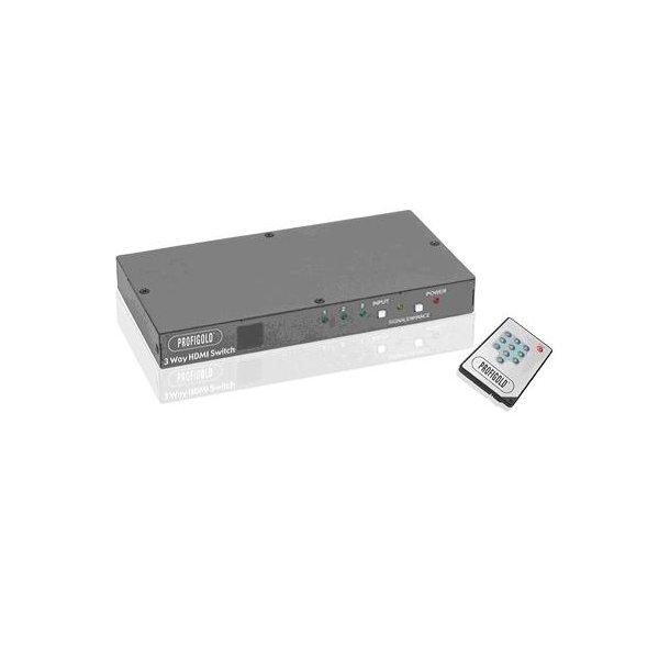 PGVS10003 Profigold HDMI 3-Way Switch Box