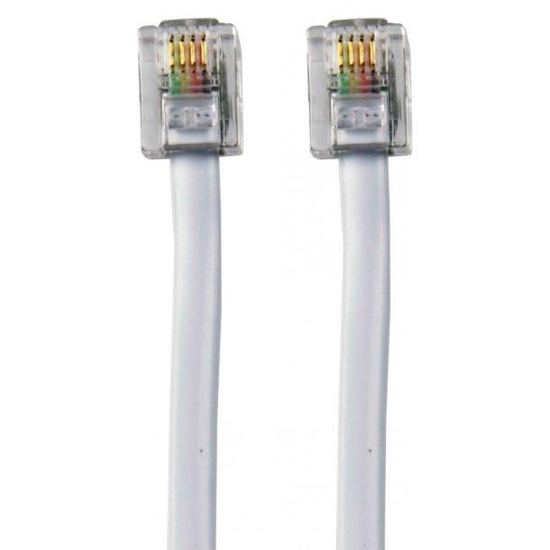 Sinox RJ11 Telephone Cable 10m6P4C M - M