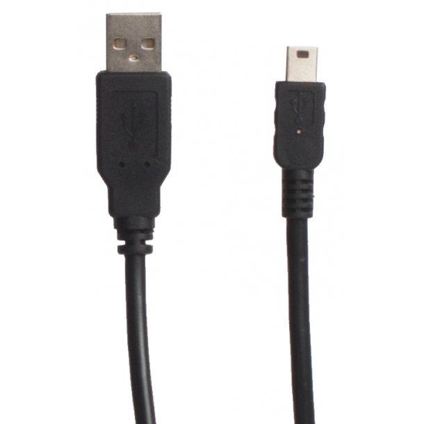 Sinox USB A - Mini USB Black 1.8mRødt frontkort