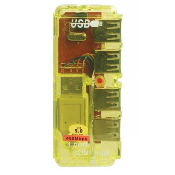 Sinox USB 2.0 HUB 4 Port ClearBlue