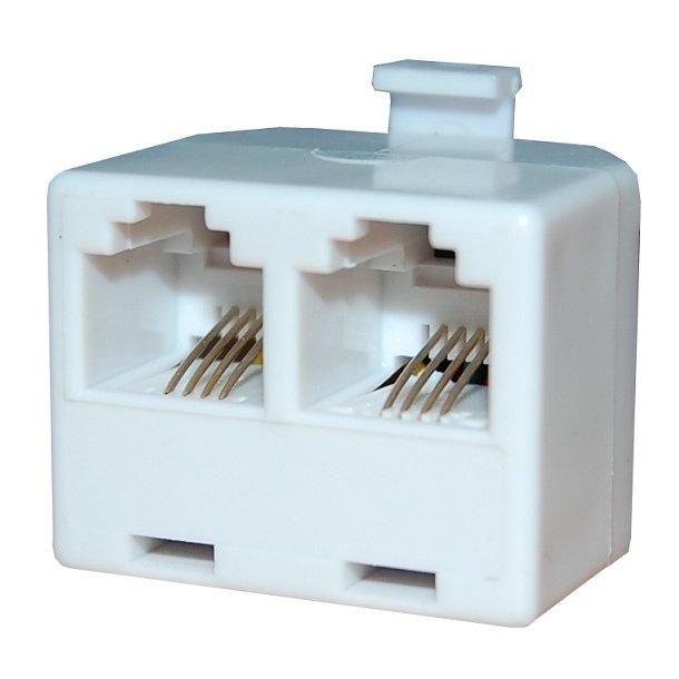Sinox Telephone splitter6P4C/RJ11 F - F White