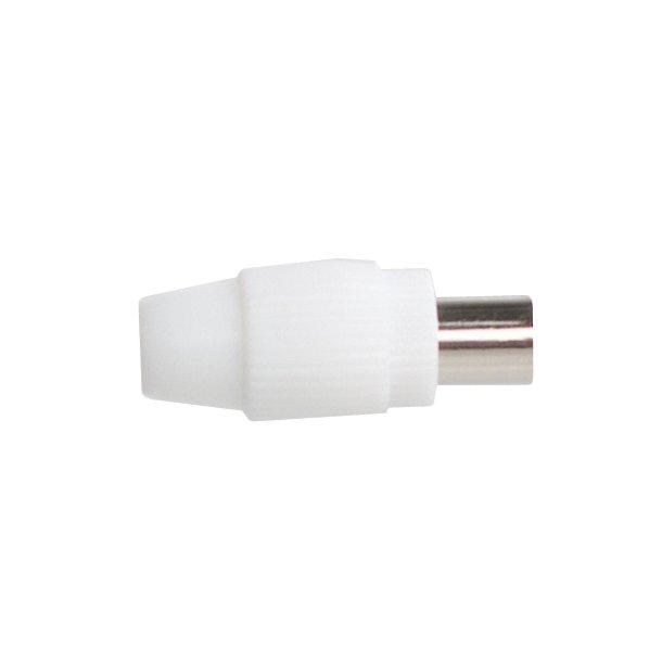 Sinox Coax Socket Plastic White F