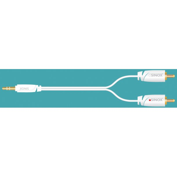 Sinox Plus Stereo Audio cable 3,5Single mold. 3,5mm M