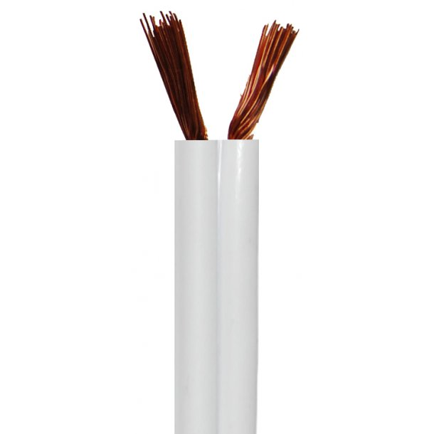 Sinox Speaker Cable 2.5mm White2x2.5mm. 100m.