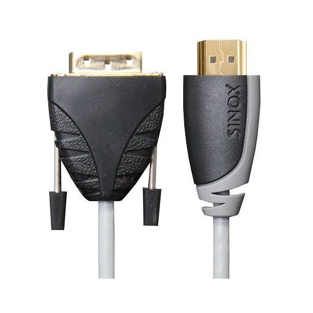 Sinox DVI-HDMI kabel 5.0m HDMI A han til DVI-D han